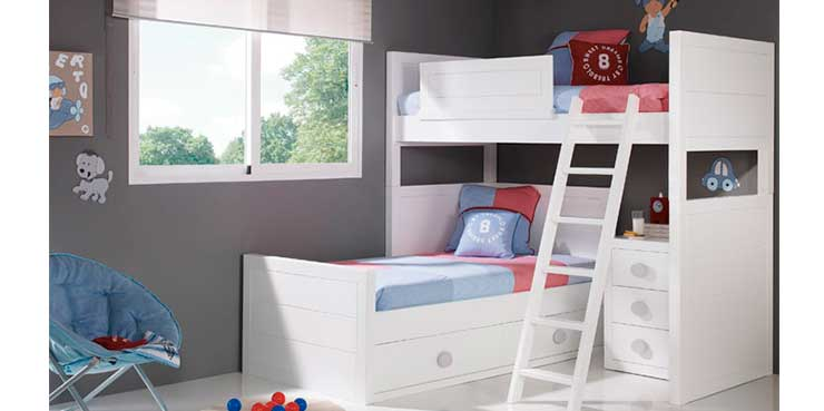 Bermeo dormitorios infantiles y juveniles trebol for Marcas de muebles juveniles